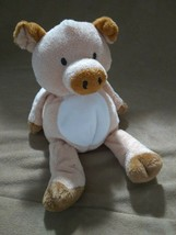 "Ty Pluffies Corkscrew The Peach Pig Hog Beanbag Plush 10"" 2002 100% Ty Lux - $12.19"