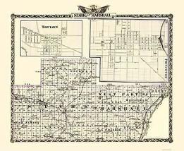 Stark Marshall Counties Illinois  - Warner 1870 - 23.00 x 28.06 - $36.58+
