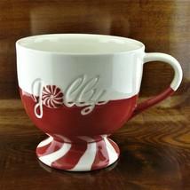 2007 Starbucks Jolly Peppermint Candy Holiday Pedestal Coffee Mug - $21.95