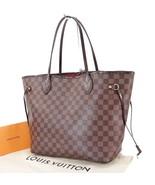 Authentic LOUIS VUITTON Neverfull MM Damier Ebene Tote Bag Purse #29443 - $985.50