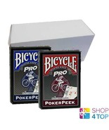 12 DECKS BICYCLE PRO POKER PEEK INDEX PLAYING CARDS MAGIC TRICKS BLUE AND RED - $61.96