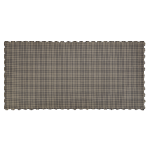BLACK CHECK Scalloped Table Cloth - 60x120 - Raven and Khaki  -VHC Brands
