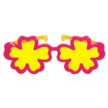 """Summer Beach Party Giant Hibiscus Eyeglasses Multi Color 11"""" x 4.7"""" - $8.07"""