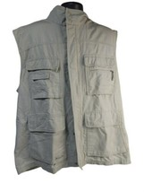 Columbia Mens Hiking Hunting Fishing Utility Tan Vest  Outdoor Zip Size 2XL - $32.30