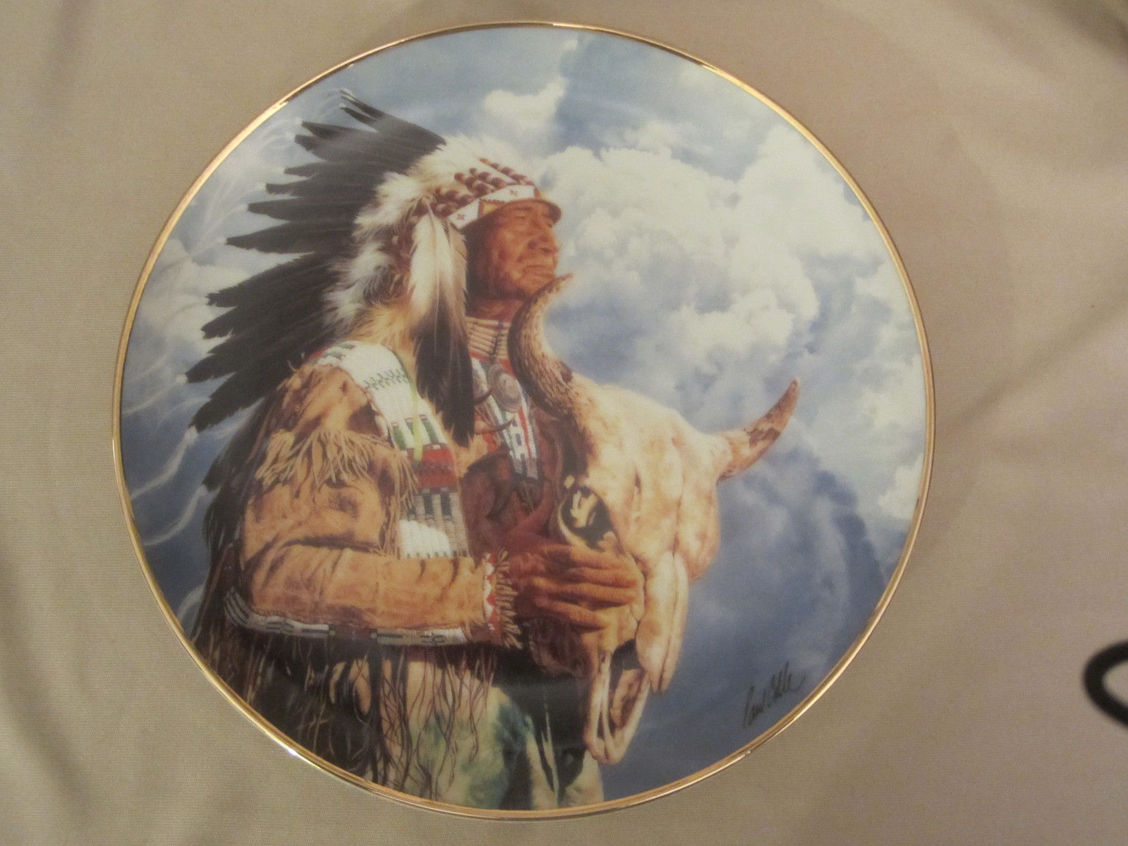 HEAR ME GREAT SPIRIT collector plate PAUL CALLE Indian FRANKLIN MINT Native Am. - $14.52