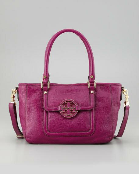 NWT Tory Burch Fuchsia Pink Amanda Leather Satchel Shoulder Bag