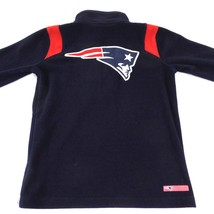 Kids New England Patriots Fleece Pullover Jacket Embroidered Navy NFL Ha... - $12.19