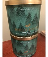 Bath and Body Works Holly Jolly Candles - Evergreen - Lot of 2 Candles -... - $56.35