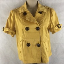 American Rag Cie Womens Mustard yellow Short Sleeve Jacket Size Small - $17.04