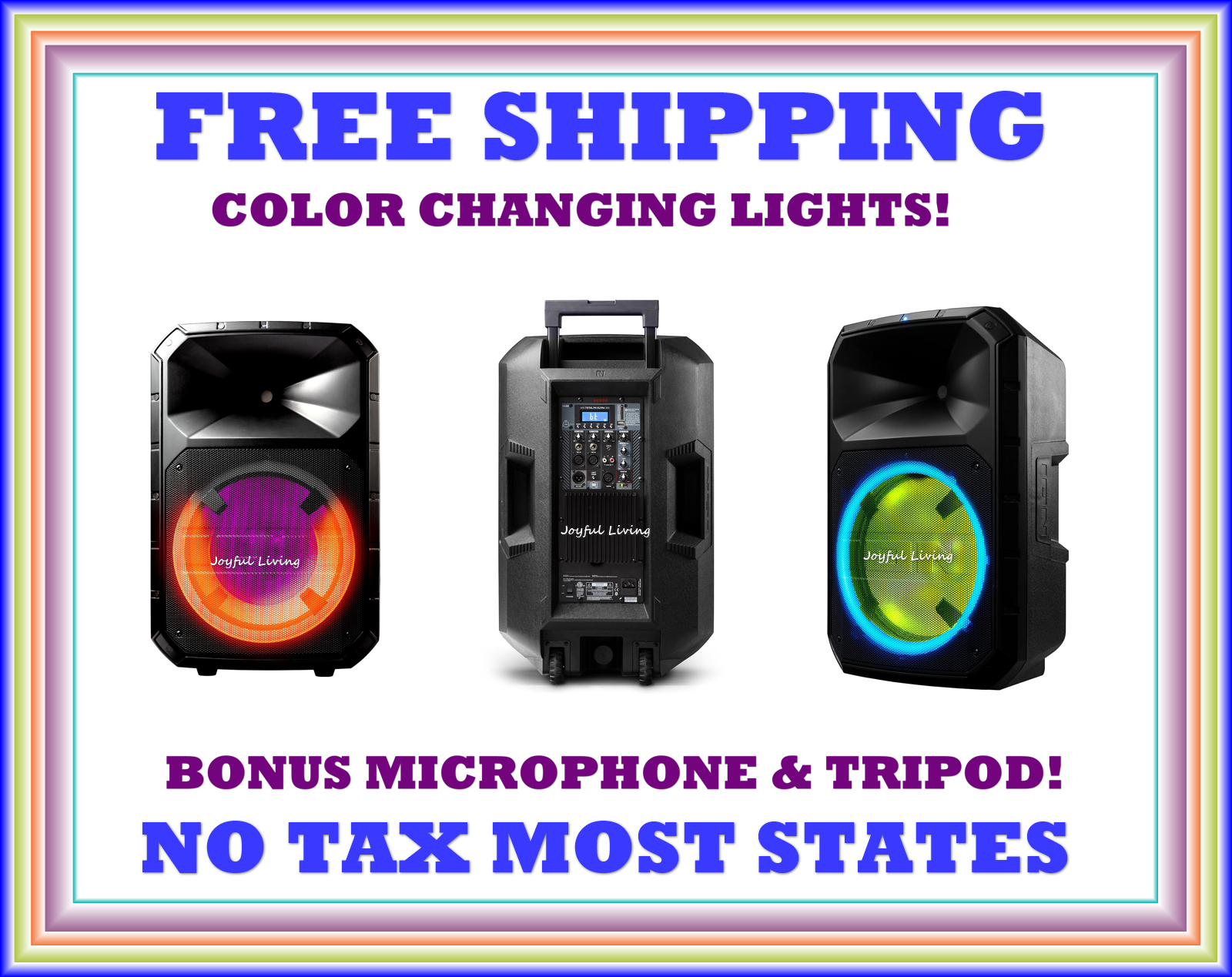 Total PA System Bluetooth Wireless Portable Speaker LED Lights ION Audio Plus