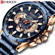 CURREN Wrist Watch Men Waterproof Chronograph Military Army Stainless Steel Male - $35.51+
