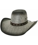 Bullhide Ranny Bangora Straw Cowboy Hat Wide Brim Cross Hatch Band Black... - $62.00