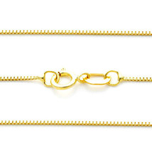 "0.55 MM 14k Solid Yellow Gold Thick Box Chain All Sizes 13"" 15"" 16"" 18"" ... - $43.54+"