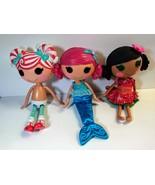 Lalaloopsy Full Size Dolls lot 3 Magical Mermaid Peppermint Mango Tiki  - $48.51