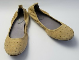 Cole Haan Shoes Cream Ballet Flats Suede Studded Womens Size 7.5 B - $64.30