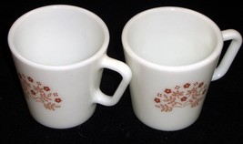 Pair of Pyrex 'Brown Daisy' Coffee Mugs - No Reserve - $5.95