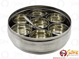 ?7 Small Container Stainless Steel Masala Dabba Indian Box Spice Container - $36.14