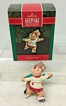 1992 Love To Skate Hallmark Christmas Tree Ornament MIB w Price Tag - $9.41