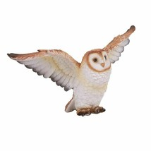 Animal World Flying Open Wing Barn Owl Resin Figurine - $29.69
