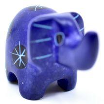 Tabaka Chigware Hand Carved Kisii Soapstone Mini Dark Blue Elephant Figurine image 4