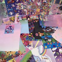 32 Pc Lisa Frank Stationery Raccoons Markie Elephant Bees Stickers Postalette image 6