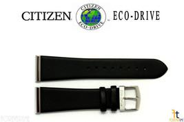 Citizen Eco-Drive S069165 23mm Cuir Noir Lisse Long Bracelet de Montre S069173 - $69.32
