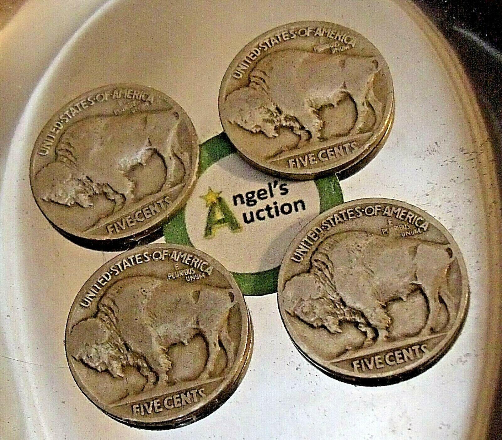 Buffalo Nickel 1920, 1925, 1928  and 1929 AA20BN-CN6098