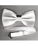 White Silk Bow Tie Adjustable - $5.95