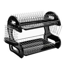 2-Tier Dish Drying Rack Stainless Steel Drainer Kitchen Storage Space Sa... - $33.34