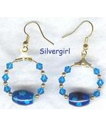 *Cool Sapphire* Crystal Hoop Earrings - $9.99