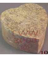 Heart-shape Soapstone Trinket Box Engraved Carved NEW - $4.99
