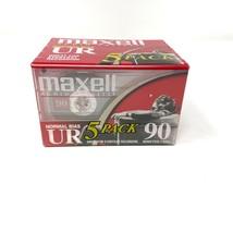 Maxell UR 90 Minute Blank Audio Cassette Tapes Normal Bias Pack Of 5 -Ne... - $18.70
