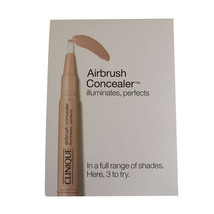 Clinique Airbrush Concealer - Illuminator/Neutral Fair/Golden Honey -Sample Card - $2.00