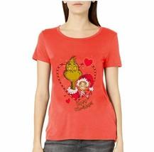 Dr. Seuss Womens Ugly Christmas T-Shirt T-Shirt - XMAS-NEON CORAL COLOR- MEDIUM image 1