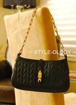 On Sale!! Gucci Black Leather Evening Bag W/ Gold Chain Strap - $475.00