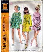 1968 DRESSES Pattern 9569-m Size 14 - Complete - $12.00