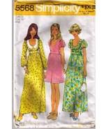1973 DRESS Pattern 5568-s Miss Size 14 - Complete - $9.99
