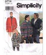 1995 UNLINED LOOSE-FITTIING JACKET Pattern 9714-s  Size L,XL - Complete - $14.99