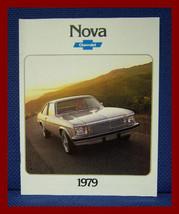 1979 Chevrolet NOVA Coupe + Sedan Color Sales Brochure - Original New Old Stock - $10.00