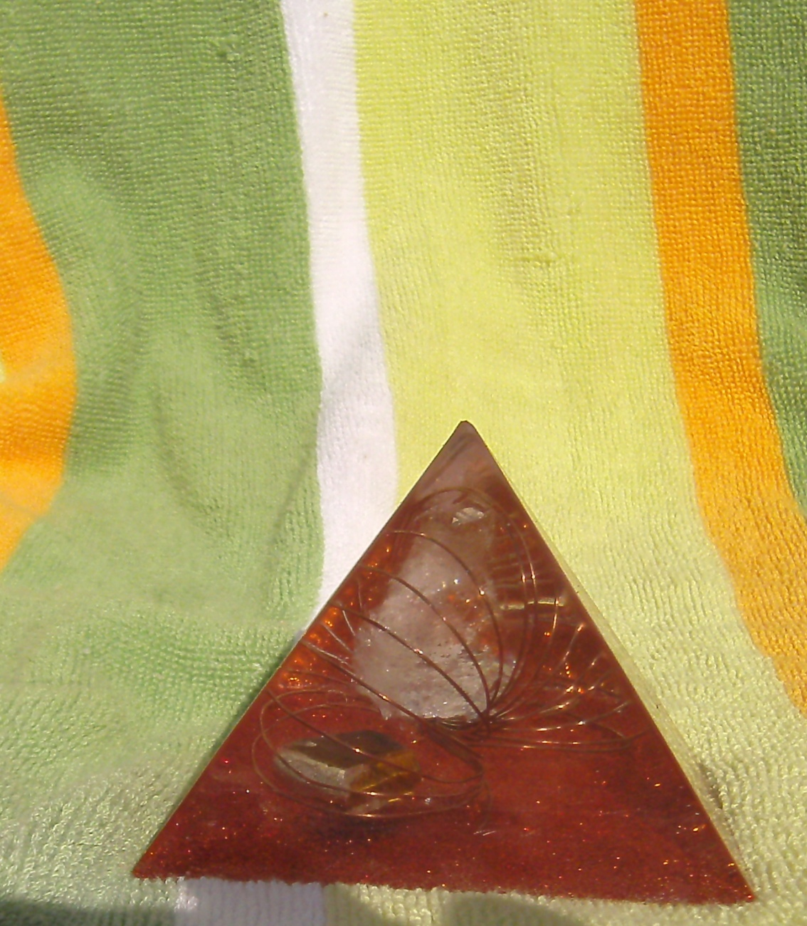 Orgone Energy Pyramid with Tigers Eye