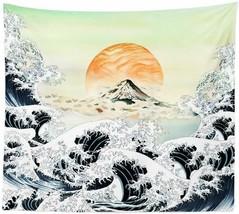 "Nice Tapestry Sunrise Mountain Waves Ocean Horizon Nature 51"" x 59"" Wall... - $29.00"