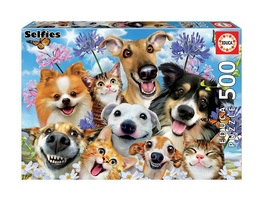 """NEW Educa Jigsaw Puzzle Game 500 Pieces Tiles """"Fun in the Sun Selfie"""" - $29.89"""