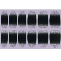 Set of 6 Stylish Bright Gradient Glittery Nail Art Stickers, Dark Green