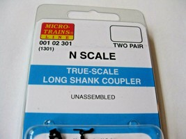 Micro-Trains Stock #00102301 True-Scale Long Shank Coupler (1301) N-Scale image 1