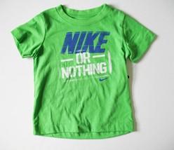 Nike Boys' Nike or Nothing Short Sleeve T-Shirt, Green Pulse, Size 6 - $11.29