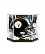 Octagon Full Size Football Helmet Glass Display Case w/ Black Base - $144.53