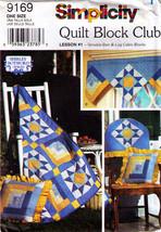 2000 Simplicity Pattern 9169-s Quilt Block Club Variable Star & Log Cabin Uncut - $10.00