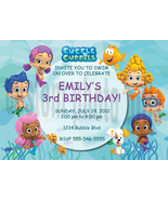 Personalized Bubble Guppies Birthday Invitation Digital File, You Print - $8.00