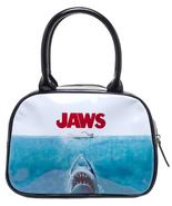 Jaws Rock Rebel Iconic Poster Black Handbag - $45.60