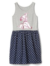 New Gap Kids GirlDisney Dalmantia Gray Blue Polka Dot Cotton Tank Dress 12 - $19.79